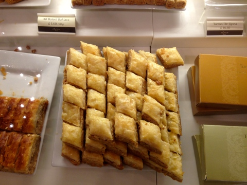 Close up of the Baklava