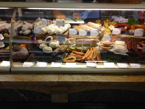 Delicious looking display of salumi