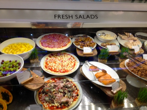 In Harrods pizza = salad! I like it!!