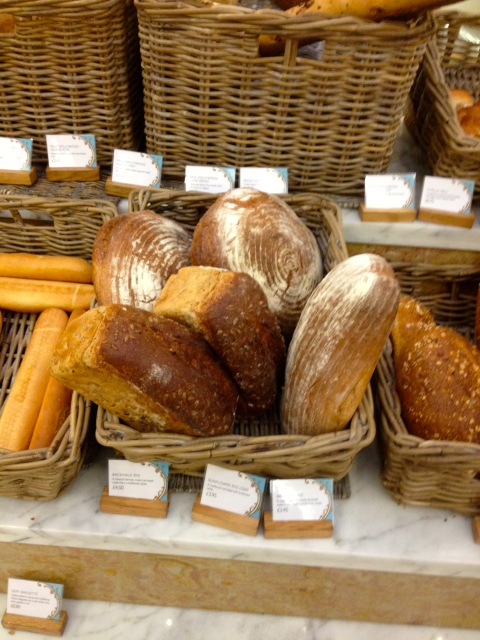 Fresh bread, look at the lovely basket imprints on the round loaves!